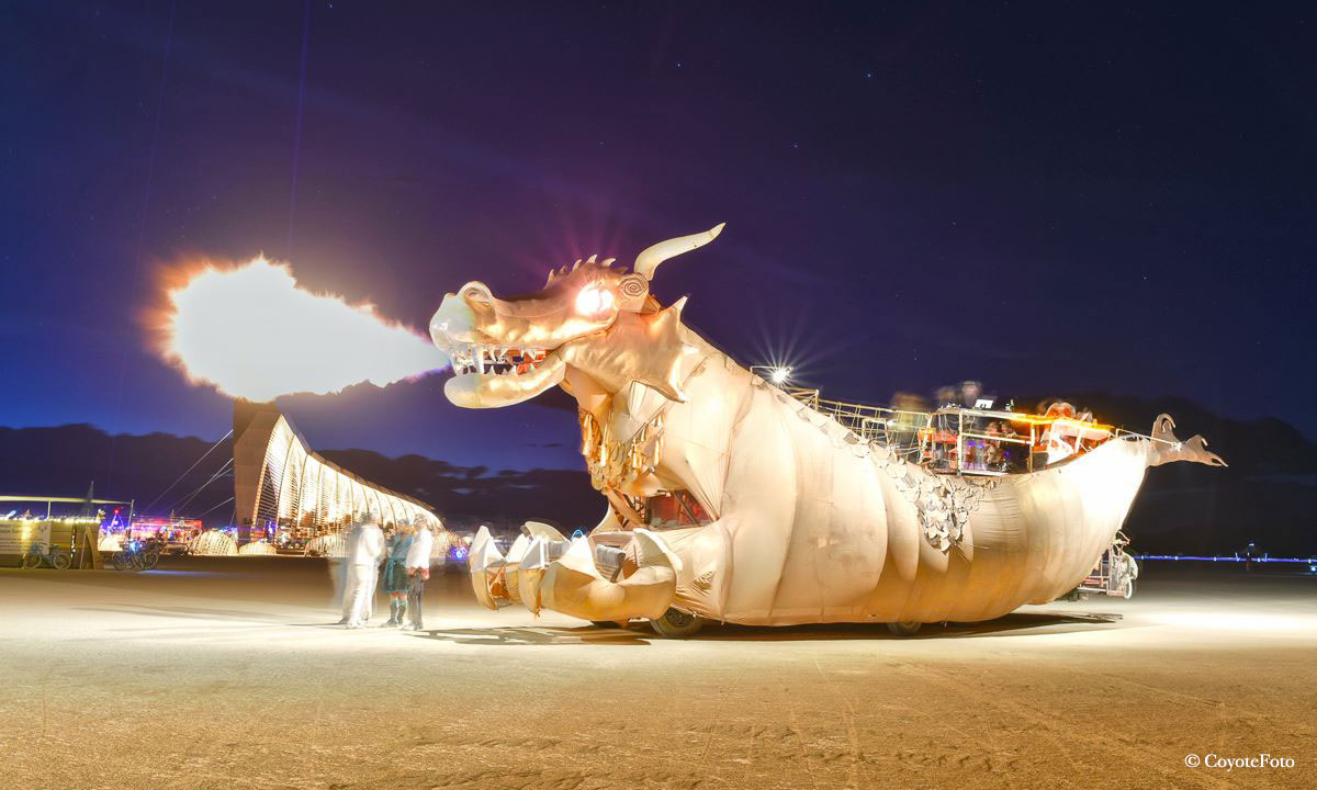 Abraxas Dragon Burning Man